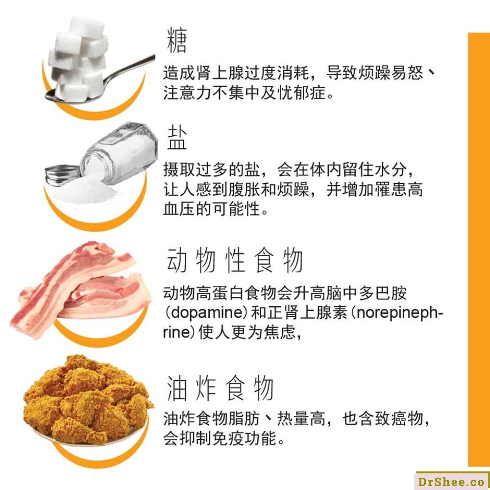 食疗养生 Dr Shee 常感觉生活有压力 Dr Shee 那就要避开这些 压力食物 Dr Shee 徐悦馨博士 整体营养自然医学 A03