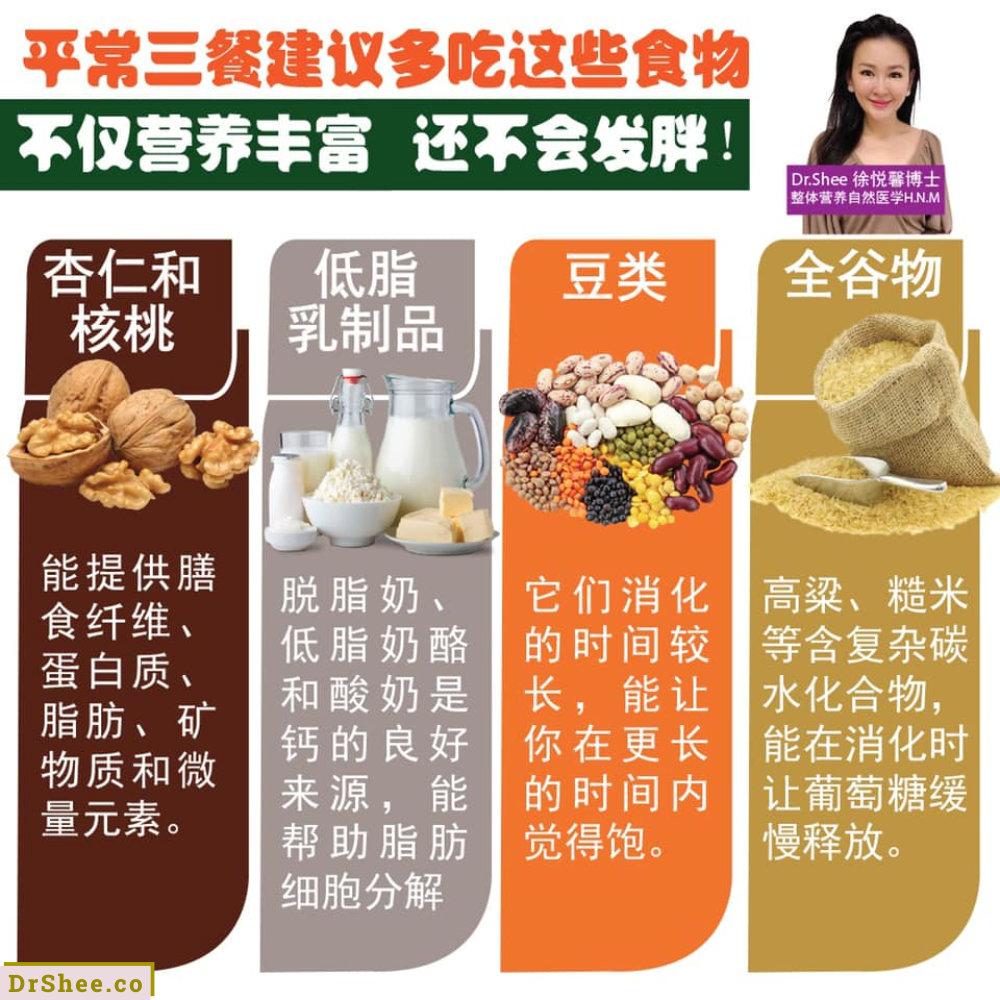 食疗养生 只要生活中常吃这八种食材 怎样都不会发胖 Dr Shee 吃一点就胖 这可能是你所选择的食材错了 Dr Shee 徐悦馨博士 整体营养自然医学 A02