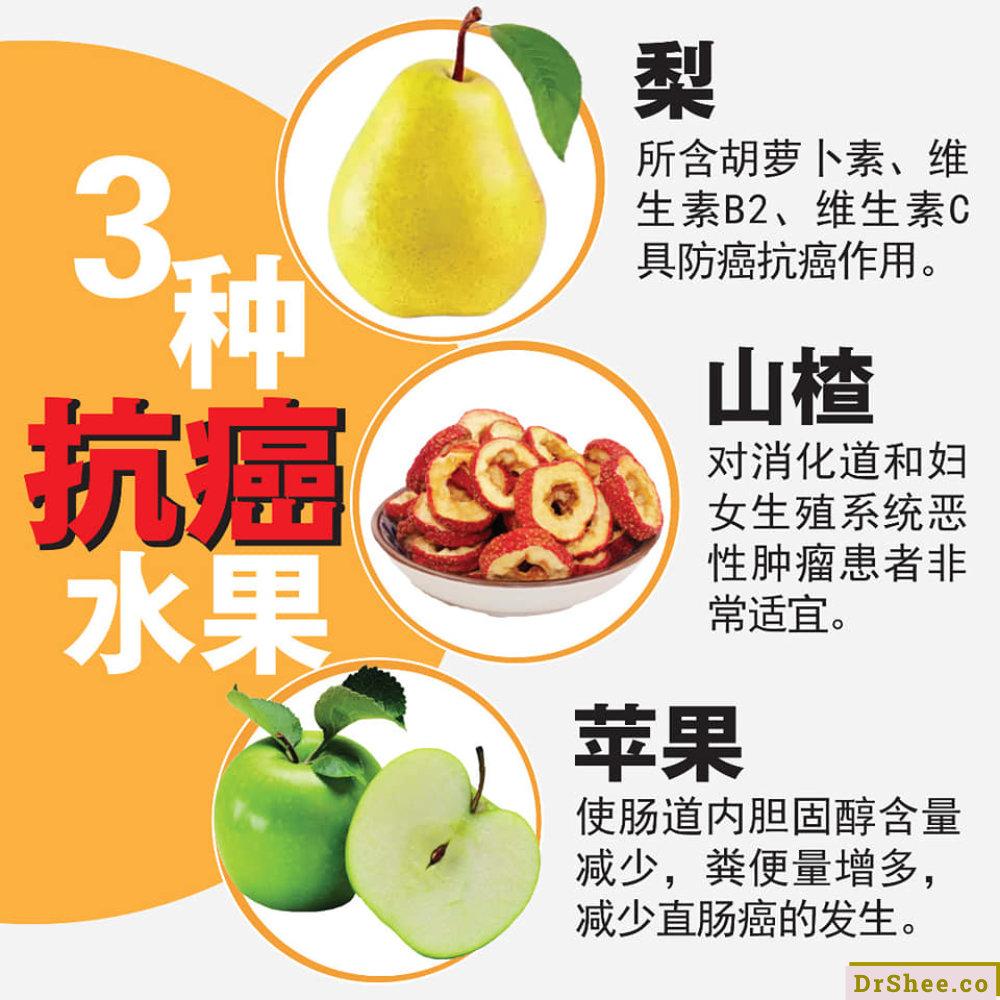 食疗养生 Dr Shee 三种类水果 蔬菜 中草药的抗癌三宝 每天摄取有效防癌 Dr Shee 徐悦馨博士 整体营养自然医学 A02
