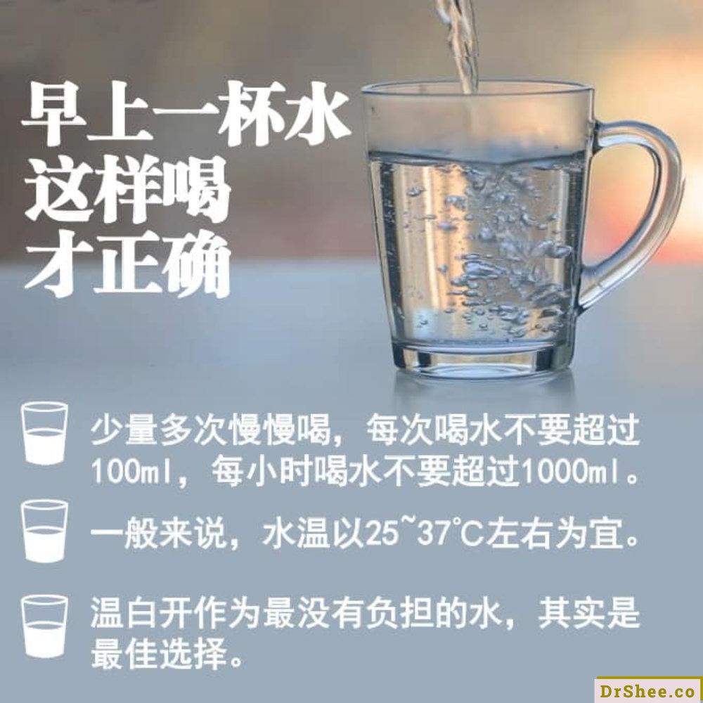 1食疗养生 Dr Shee 晨起第一杯水 很多人都喝错了 Dr shee教您怎么喝 喝多少才能保健养生 Dr Shee 徐悦馨博士 整体营养自然医学 A03